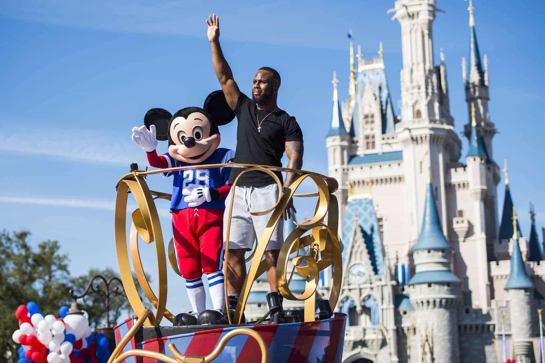 NFL Super Bowl star running back James White starred in a milestone Disney moment Monday, Feb. 6, 2017 (Steven Diaz, photographer)