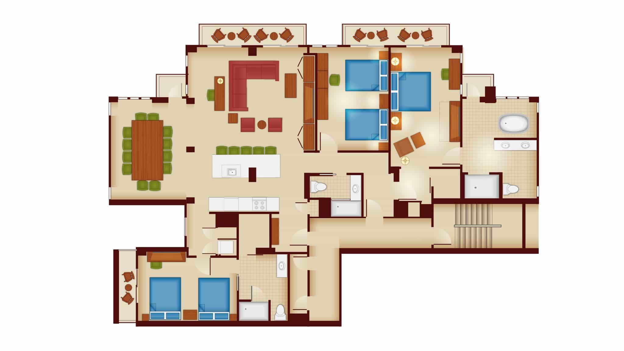 Three Bedroom Grand Villa, Copper Creek Villas and Cabins at Wilderness Lodge