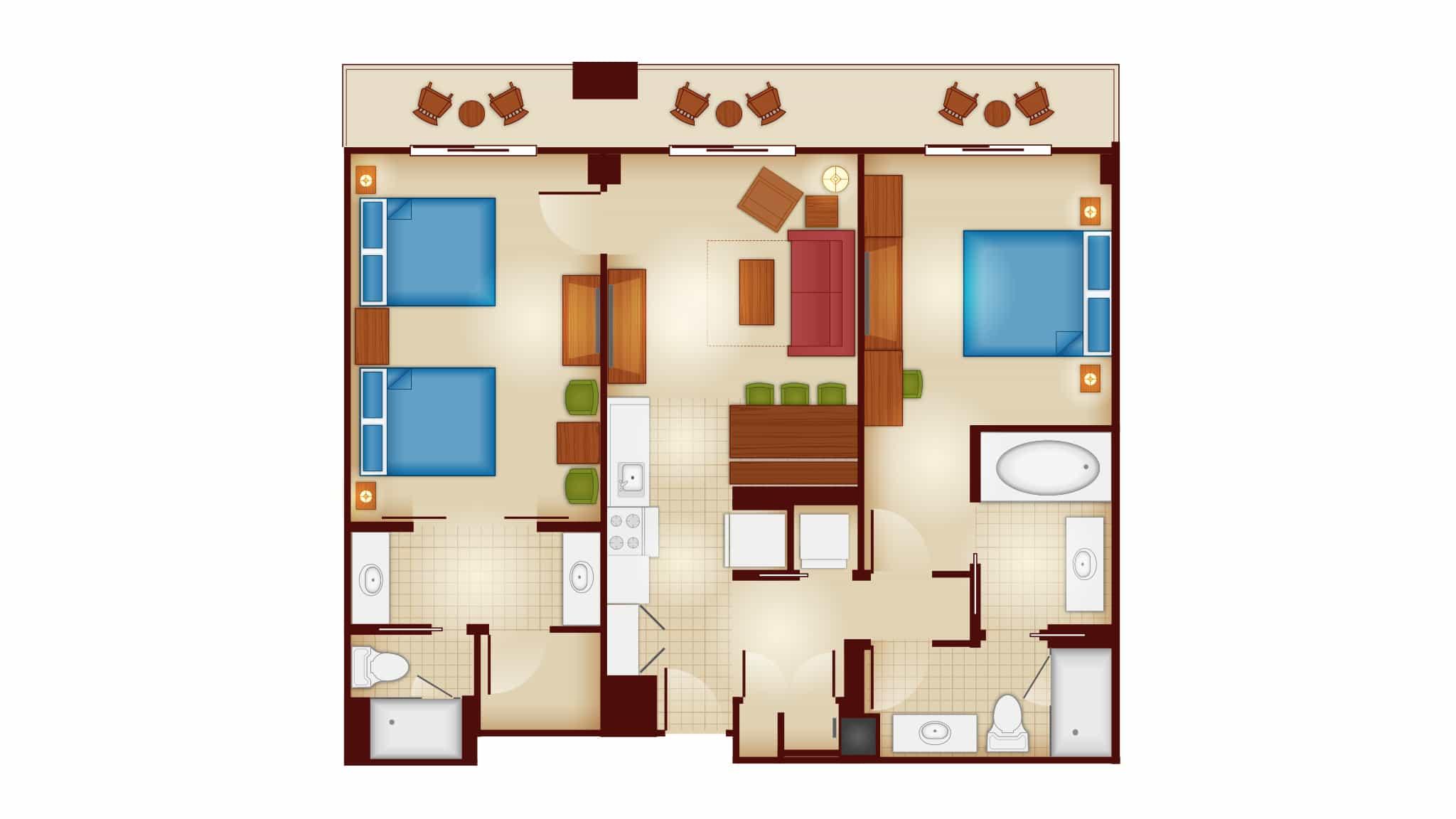 Two Bedroom Villa, Copper Creek Villas and Cabins at Wilderness Lodge