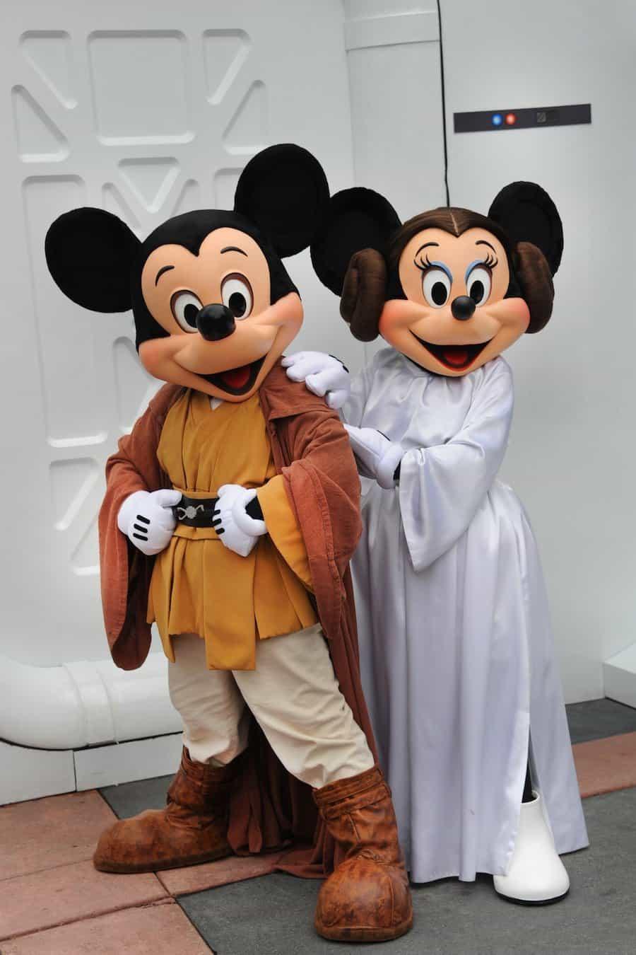 Mickey Minnie Star Wars Costumes