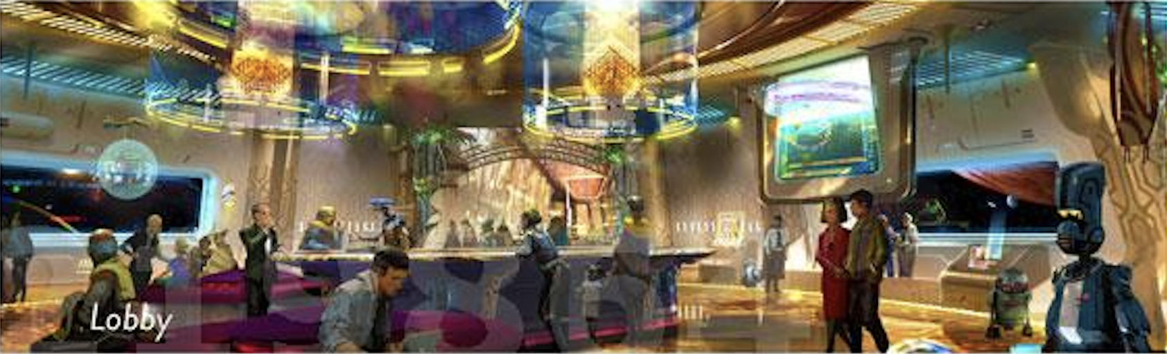 "Concept Art, Star Wars ""Starship"" resort at Walt Disney World"