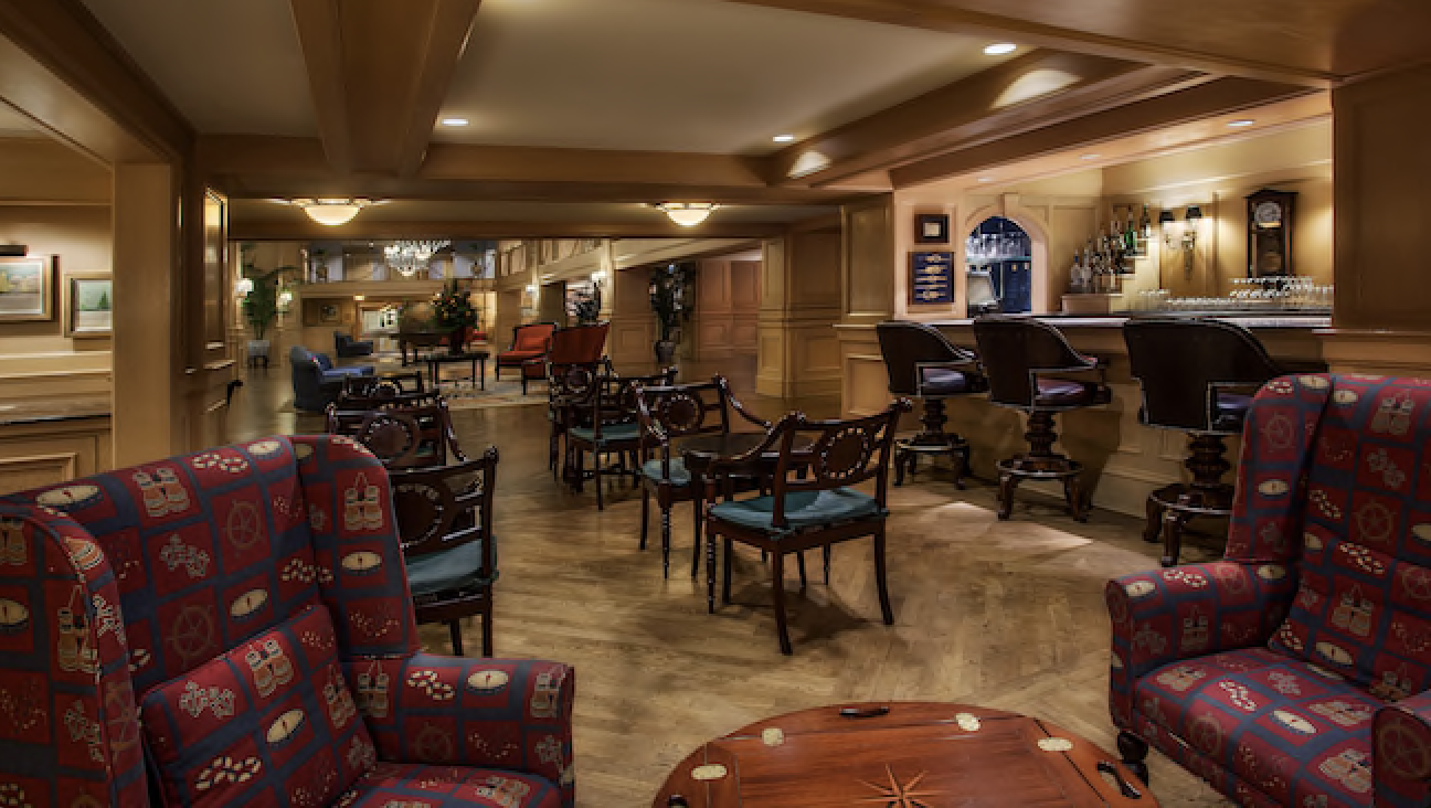 The former Ale and Compass Lounge at Disney's Yacht Club Resort, now The Market at Ale and Compass