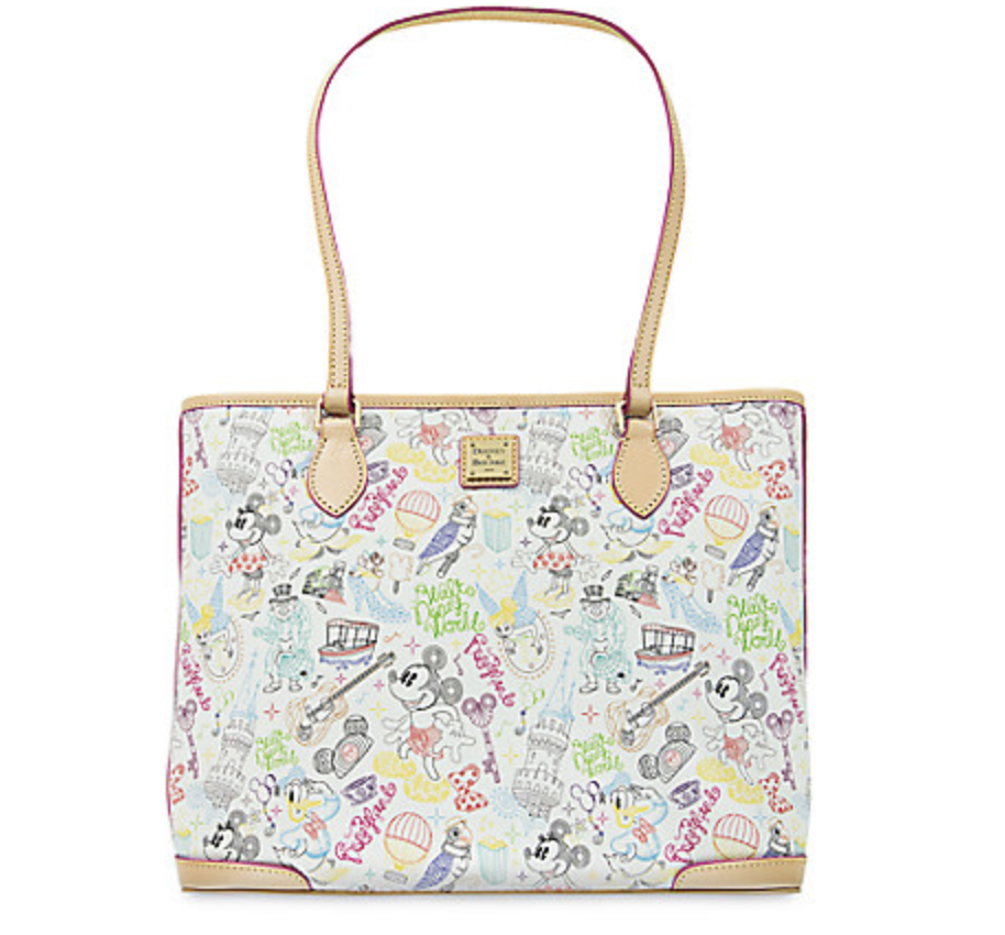 Mickey and Minnie Mouse ''A Walk in the Park'' Tote by Dooney & Bourke