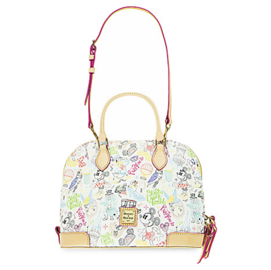 Mickey and Minnie Mouse ''A Walk in the Park'' Zip Satchel by Dooney & Bourke