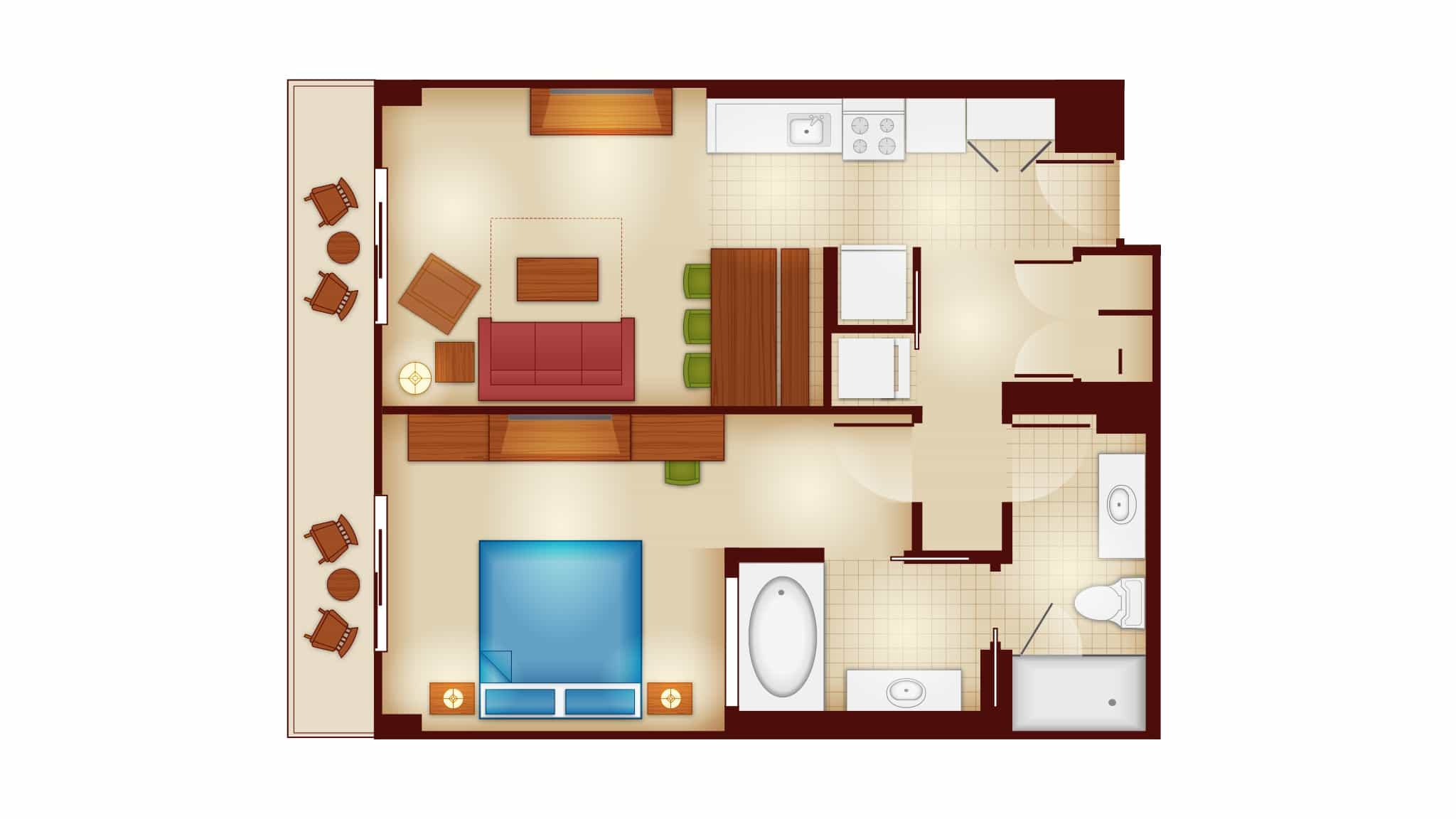 One Bedroom Villa, Copper Creek Villas and Cabins at Wilderness Lodge