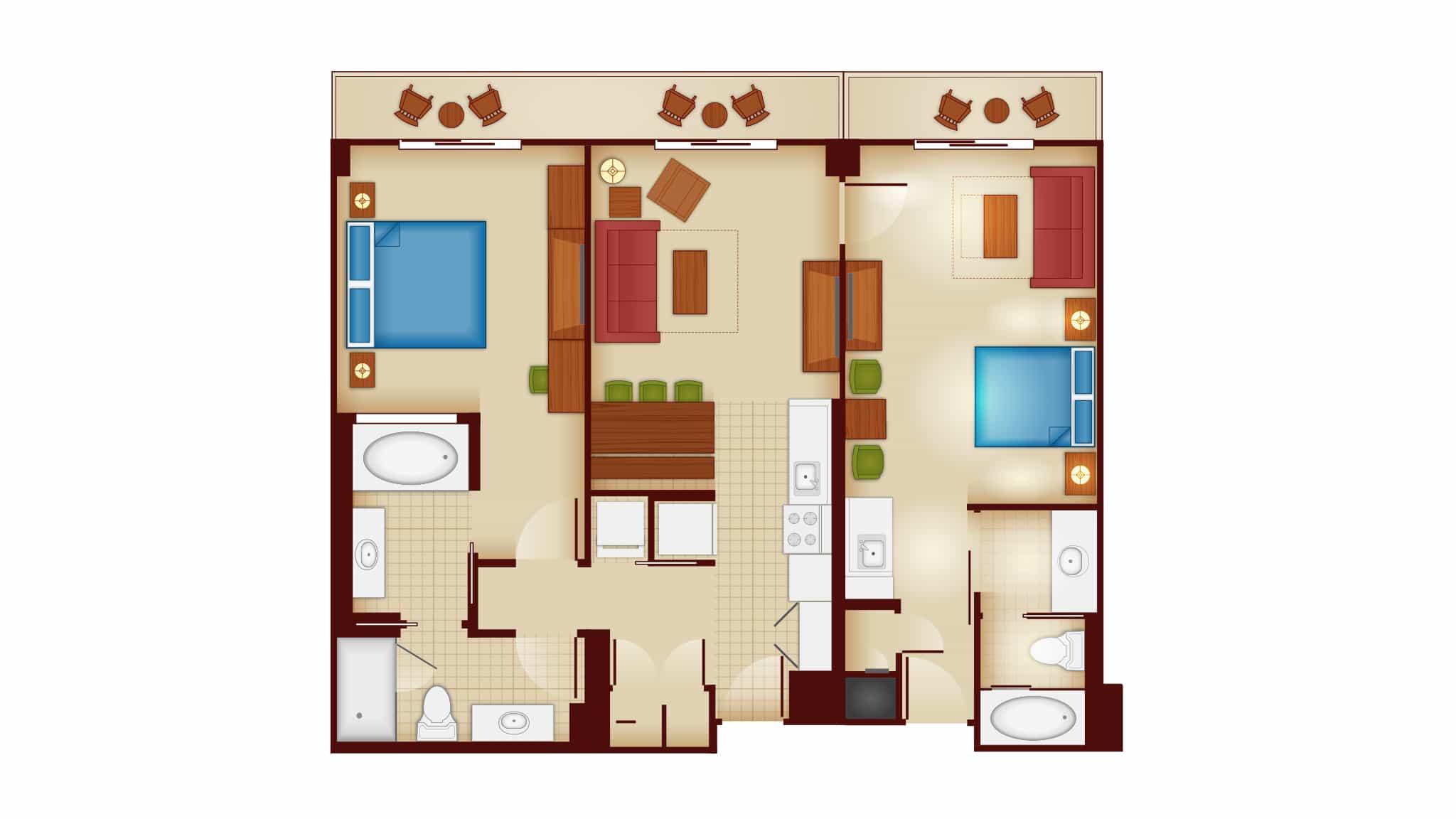 Two Bedroom Lock-Off Villa, Copper Creek Villas and Cabins at Wilderness Lodge