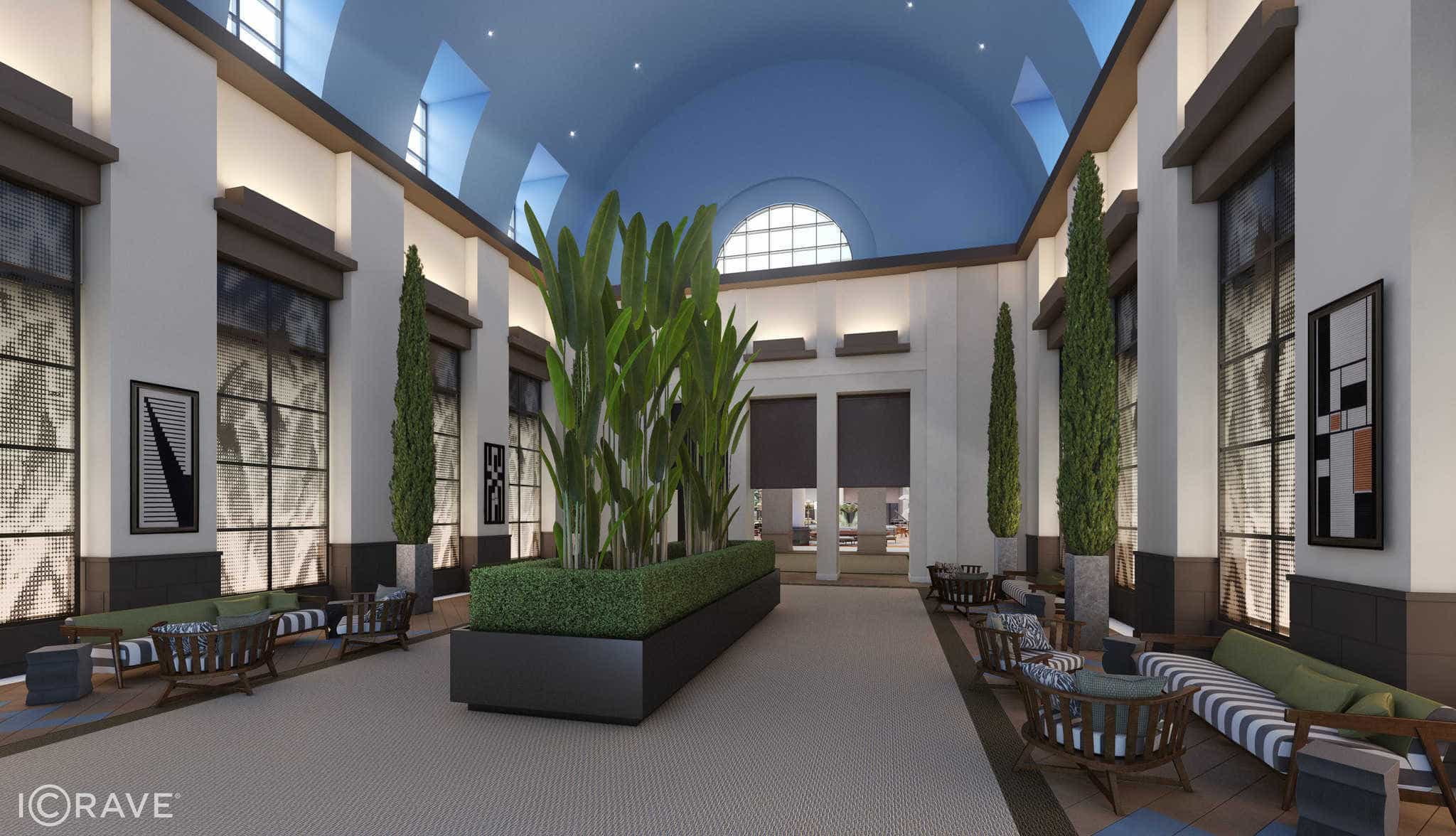 Walt Disney World Dolphin Hotel Lobby Undergoing Refurbishment