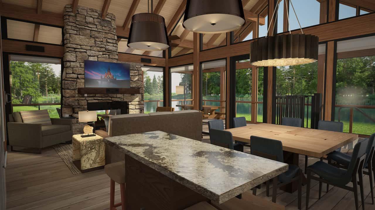 Artist rendering of the cabin interiors